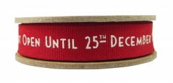 East of India 3M Art Deco Merry Christmas Ribbon