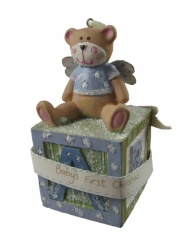 Gisela Graham Baby's 1st Christmas Boys Decoration