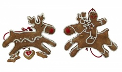 Gisela Graham Pair of Gingerbread Reindeers