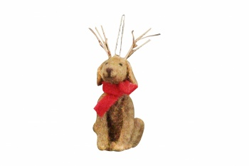 Gisela Graham Felt Dog Christmas Tree Decoration