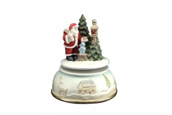 Gisela Graham Christmas Tree Wind Up Musical Decoration