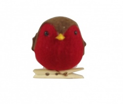 Gisela Graham Felt Robin Christmas Tree Decoration