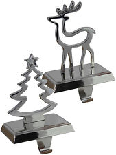 Gisela Graham Silver Weighted Mantel Stocking Holder