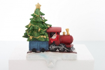 Gisela Graham Weighted Train Christmas Stocking Holder