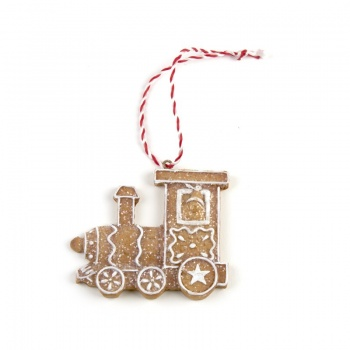 Heaven Sends Gingerbread Train Christmas Tree Decoration