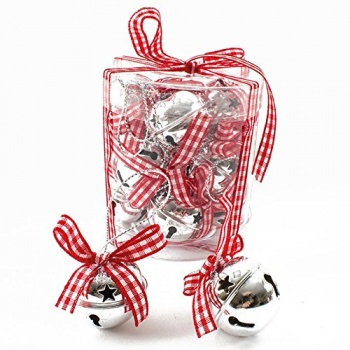 Heaven Sends Christmas Tree Decorations - Silver Jingle Bells