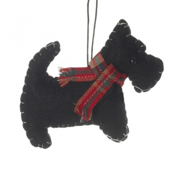 Heaven Sends Felt Scottie Dog Christmas  Tree Decoration