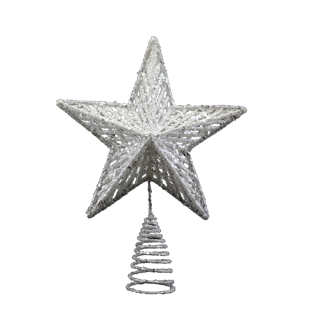 Gisela Graham Christmas Tree Topper: Gisela Graham Silver Christmas Tree Topper