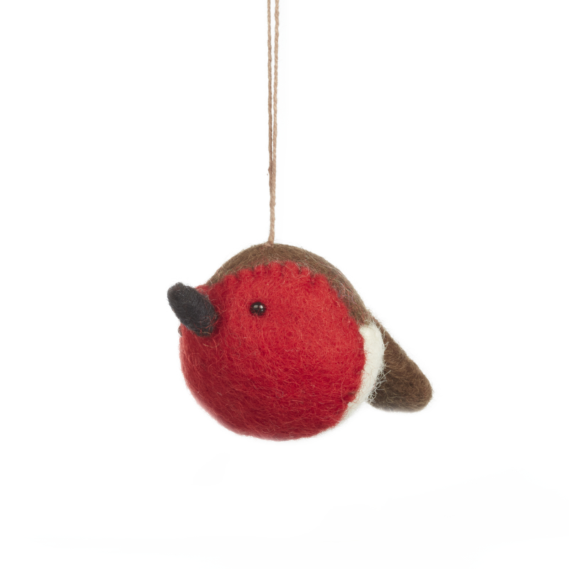 Felt Sweetheart Robin Hanging Decoration| Gifts From ...