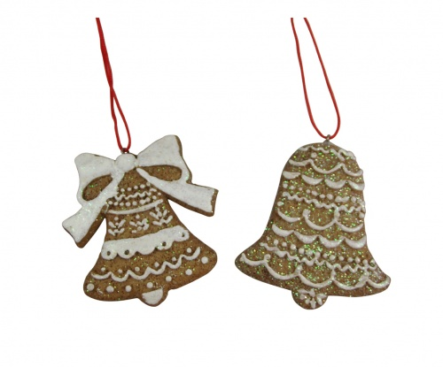 Set Of 2 Gisela Graham Gingerbread Style Christmas Tree