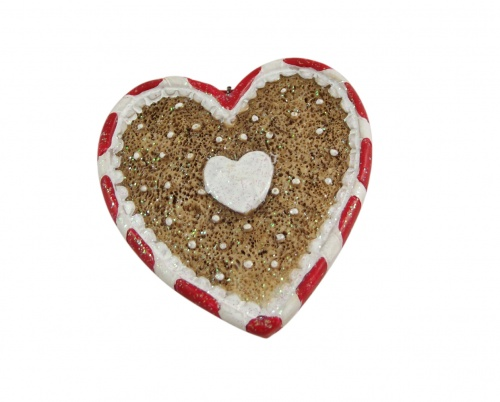 Gisela Graham Gingerbread Style Heart Shaped Christmas