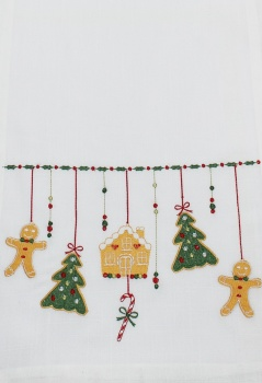 Peggy Wilkins Christmas Table Runner - Gingerbread Design