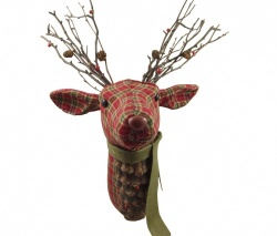 Gisela Graham Tartan Stag Head Plaque