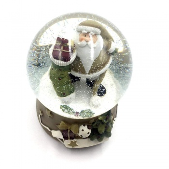 Christmas Snowglobe Decoration Featuring Father Christmas
