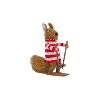 Sass and Belle Felt Skiing Squirrel Christmas Tree Decoration