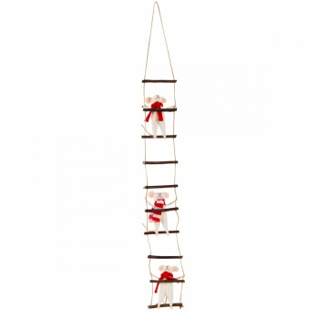 Sass And Belle Ladder Climbing Mice Christmas Decoration