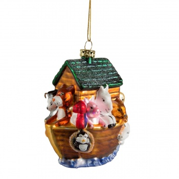 Sass and Belle Glass Noahs Ark Christmas Tree Decoration