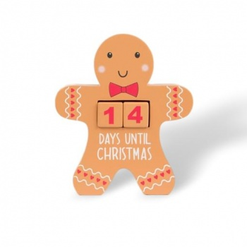 Gingerbread Man Christmas Countdown Calendar