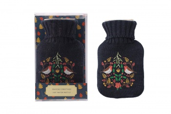Seasons Greeting Christmas  Hot Water Bottle Boxed Gift