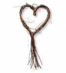 Gisela Graham Heart Shape Natural Wicker Twig Wreath