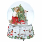 Gisela Graham Woodland Creatures Musical Snow Dome