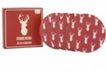 Set of 4 Cream & Red  Stags Head Coasters