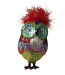 Gisela Graham Glass Owl Collectable