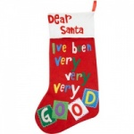 Gisela Graham  Dear Santa Felt Stocking