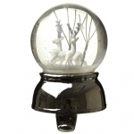 Heaven Sends Christmas Reindeer Snowglobe with Stocking Hook