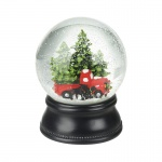 Heaven Sends Christmas Trees & Red Car Snowglobe