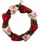 Gisela Graham Country Hearts Wreath