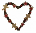 Gisela Graham Gingerbread Heart Wreath