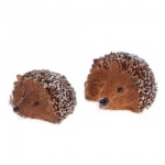 Gisela Graham Set of 2 Decorative Christmas Hedgehogs
