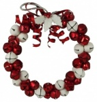 Gisela Graham Red & White Jingle Bell Wreath