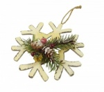 Gisela Graham Snowflake and Fir Decoration