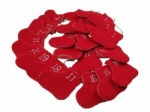 Gisela Graham Christmas Decoration - Felt Stocking Advent Calendar