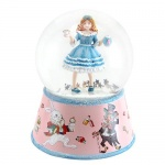 Gisela Graham Alice's Tea Party Musical Snow Dome