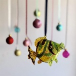 Gisela Graham Glass Blowfish Hanging Decoration