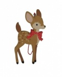 Gisela Graham Wooden Bambi Style Deer Christmas Tree Decoration