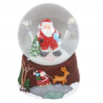 Gisela Graham Santa in Dungarees Musical Christmas Snow Dome