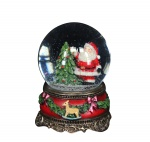 Gisela Graham Christmas Decoration - Santa Snowglobe