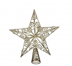 Gisela Graham Gold Christmas Star Tree Topper