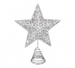 Gisela Graham White Christmas Star Tree Topper Feature
