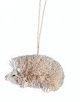 Gisela Graham White Bristle Christmas Tree Hedgehog