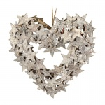 Heaven Sends Birch Bark Star Heart Shaped Wreath