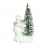 Heaven Sends Polar Bear in Scarf with Tree Christmas Decoration