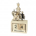 Heaven Sends Unicorn Wooden Countdown Perpetual Calendar