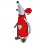 Heaven Sends Fabric Festive Christmas Standing Mouse