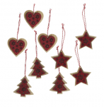 Heaven Sends Wooden Fretwork Scandi Christmas Decorations