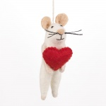 Felt So Good Fair Trade Loving Mouse Hanging Decoration